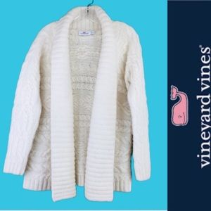 Vineyard Vines Sweaters - Vineyard Vines Chunky Knit Ivory Cardigan